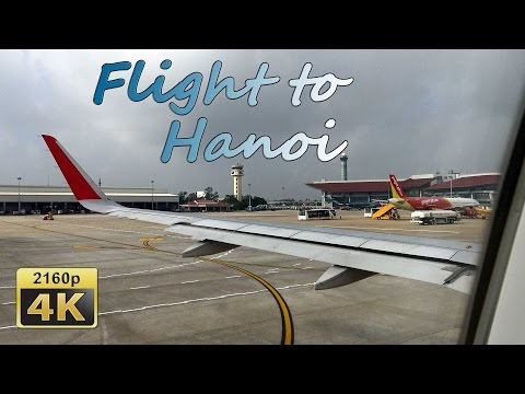 Flight from Bangkok to Hanoi - Vietnam 4K Travel Channel