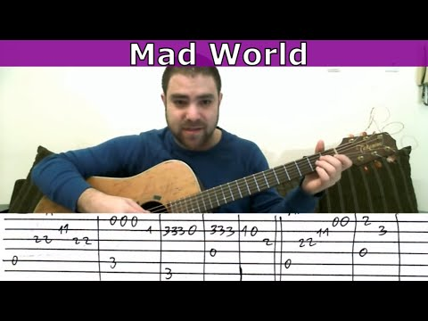 Tutorial: Mad World - Fingerstyle Guitar w/ TAB
