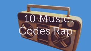 10 music codes rap for roblox