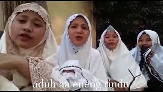 Balasan lagu santri jilbab ungu aduh aa eneng rindu