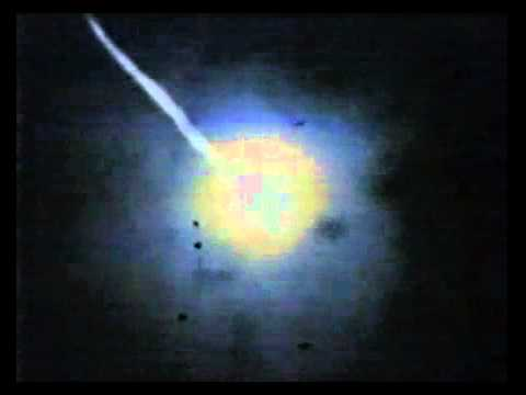 Patriot SAM Engage Scud Missiles Over Israel During Operation Desert Storm