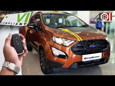 2020 Ford EcoSport BS6 Thunder Edition Sunroof | On Road Price List | Mileage | Features | Interior