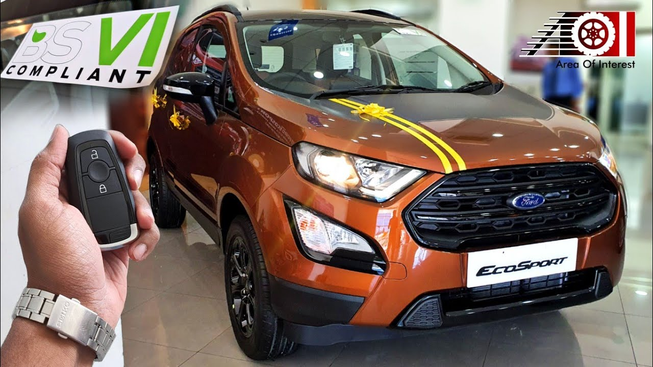 2020 Ford Ecosport Bs6 Thunder Edition Sunroof On Road Price List Mileage Features Interior Youtube