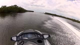 Yamaha FX SHO Cruiser chasing down a Kawasaki STX15F