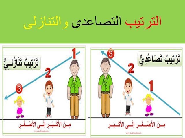 اسهل طريقة لتعليم طفلك الترتيب التصاعدى والتنازلى