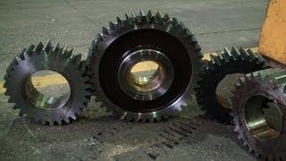 Производство зубчатых колес  Manufacture of cogwheels(, 2013-02-27T14:10:12.000Z)