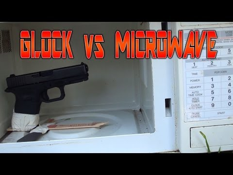 Loaded Glock in a Microwave