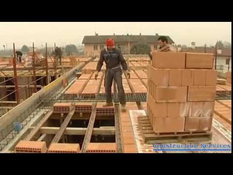 Build a house with concrete slab step by step