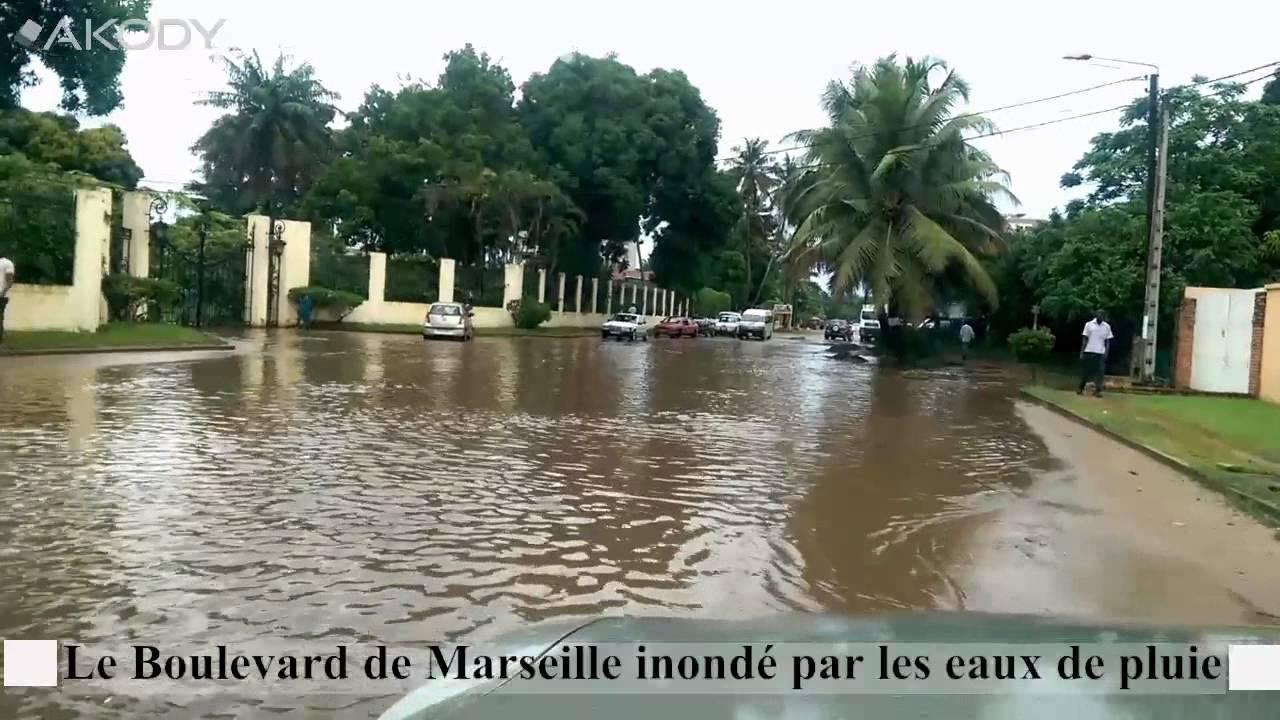 abidjan boulevard de marseille inond par les eaux de pluie youtube. Black Bedroom Furniture Sets. Home Design Ideas