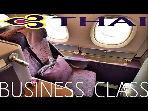 Thai Airways BUSINESS CLASS Bangkok to Tokyo A380