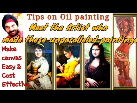 Tips on oil painting and making canvas at home – easy and cost effective | Haul of portraits