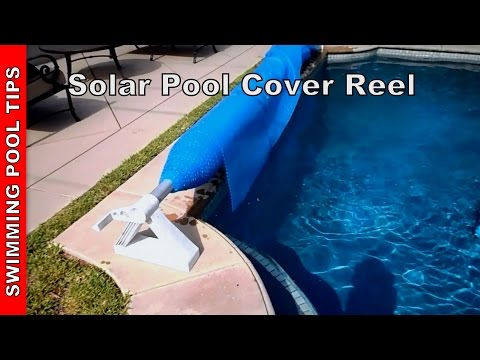 Solar Pool Cover with Reel - YouTube