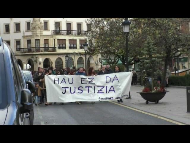 Manifestazioa izan da azaroaren 25a aldarrikatzeko