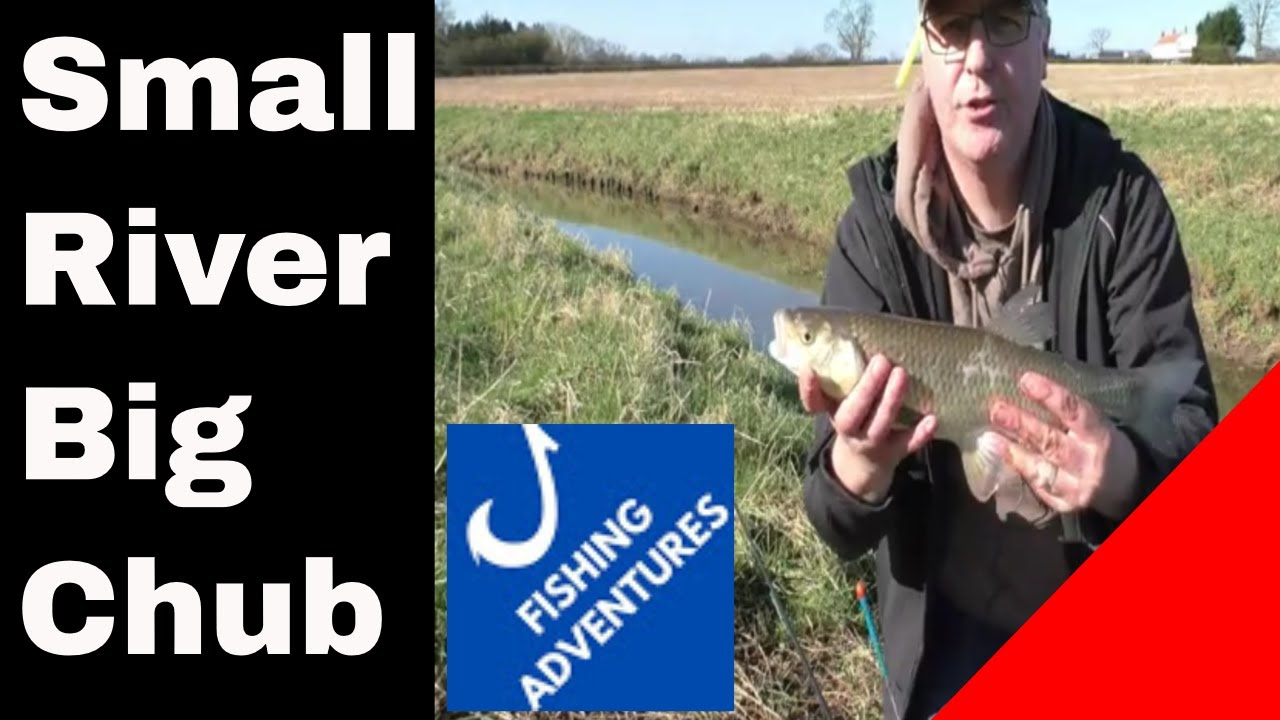 Small river stick float fishing for chub, bagging up, YDAA water