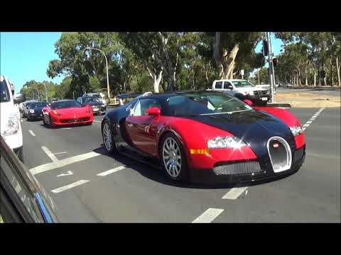 Bugatti Veyron cruises through Adelaide CBD