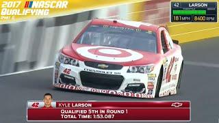 2017 NASCAR Qualifying Laps (Part 1)