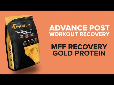MFF Recovery Gold Protein, Advance Post Workout Muscle, Glycogen, Vitamins & Minerals recovery.