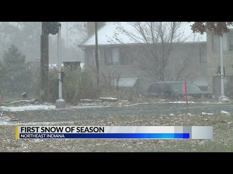 First Snow Comes To Fort Wayne