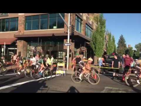 Cascade Classic bike race final laps