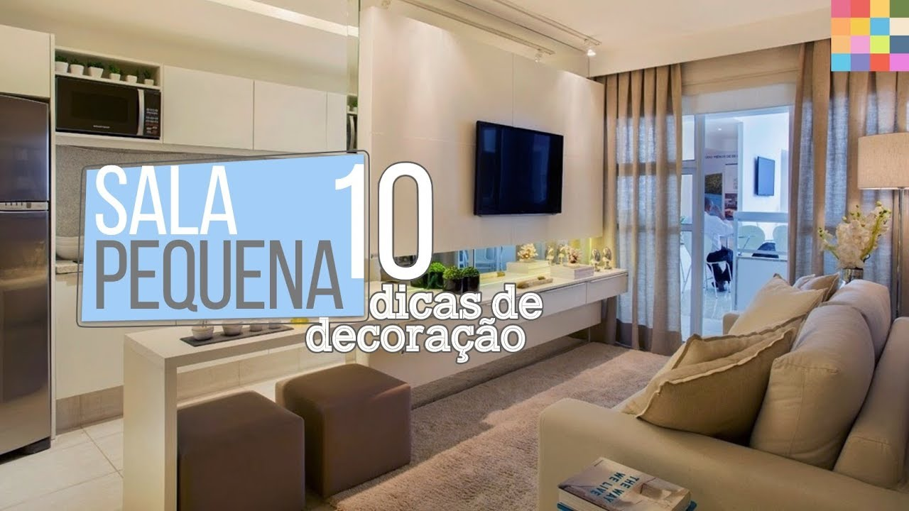 Sala pequena 10 dicas para decorar youtube for Ideas para decorar salas muy pequenas