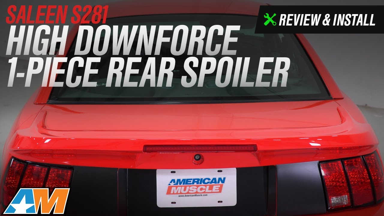 For 99-04 Ford Mustang CBR Style Rear Wing Trunk Spoiler w// Brake Light Deleted