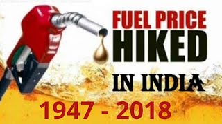 Petrol price in india | 1947 to 2018 | Analytics report on price hike