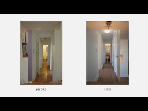 Contemporary Renovation of a 1BR, 2BA - E 87th St, NYC Before & After