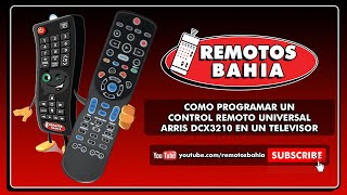COMO PROGRAMAR UN CONTROL REMOTO UNIVERSAL ARRIS DCX3210 CABLEVISION HD EN UN TELEVISOR