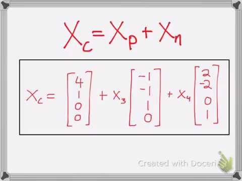 Linear Algebra:  Finding the Complete Solution