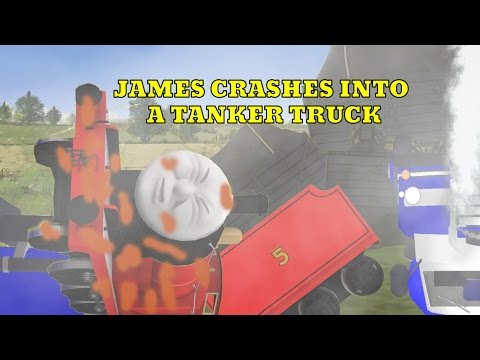 James Smashes Into Tanker Truck