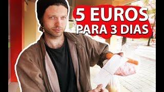 COMI POR 3 DIAS com apenas 5 EUROS! comendo muito bem e barato na Europa