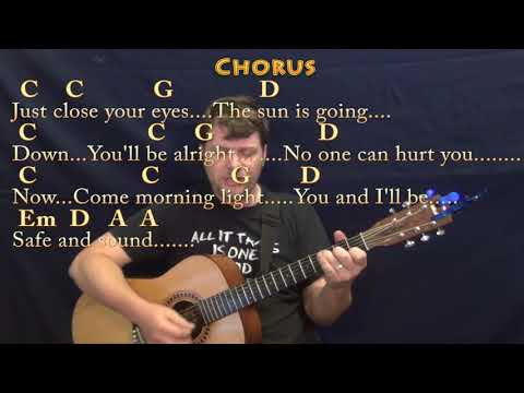 Safe and Sound (Taylor Swift) Guitar Cover Lesson with Chords/Lyrics