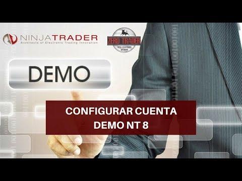 Configurar cuenta Demo Ninja Trader 8