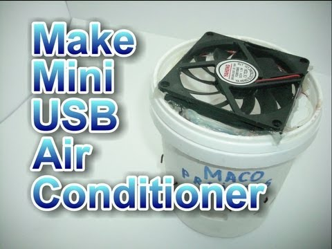 How to make mini usb air conditioner - YouTube