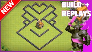 New BEST Th7 Trophy/War Base [Build+Replay]   The Temple   Anti-Drag, Anti-Hog