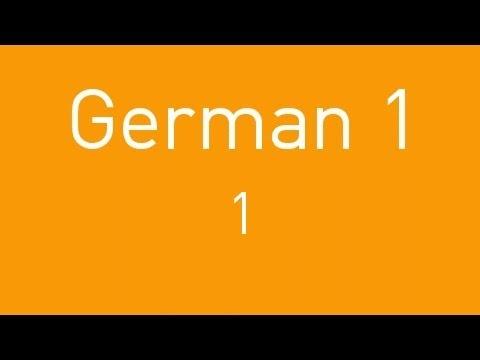 Learn German - Lesson 1