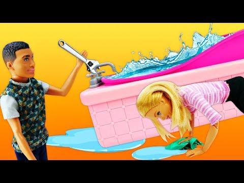 Барби и Кен затопили квартиру! Покупаем новый ноутбук и ковер. Мультики для девочек