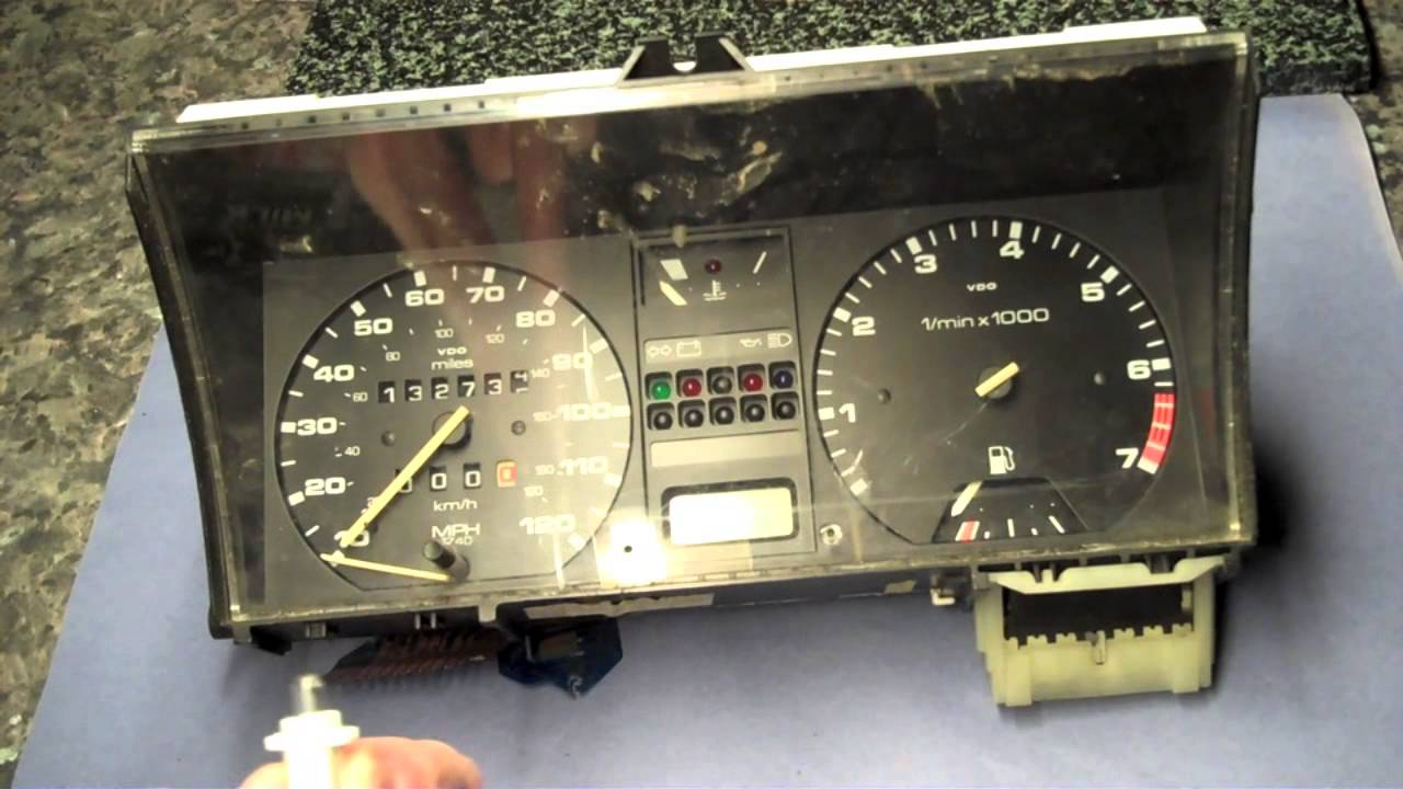vw golf mk2 change dash cluster illumination bulbs