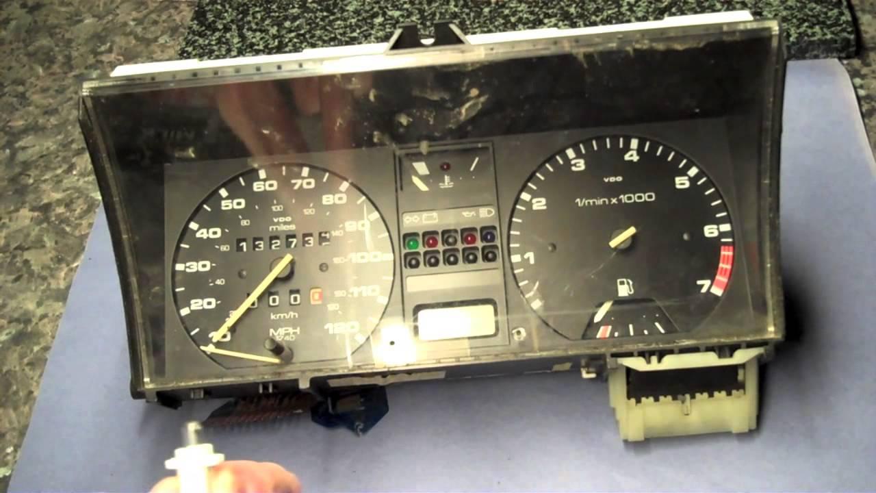 VW Golf MK2 change dash cluster illumination bulbs  YouTube