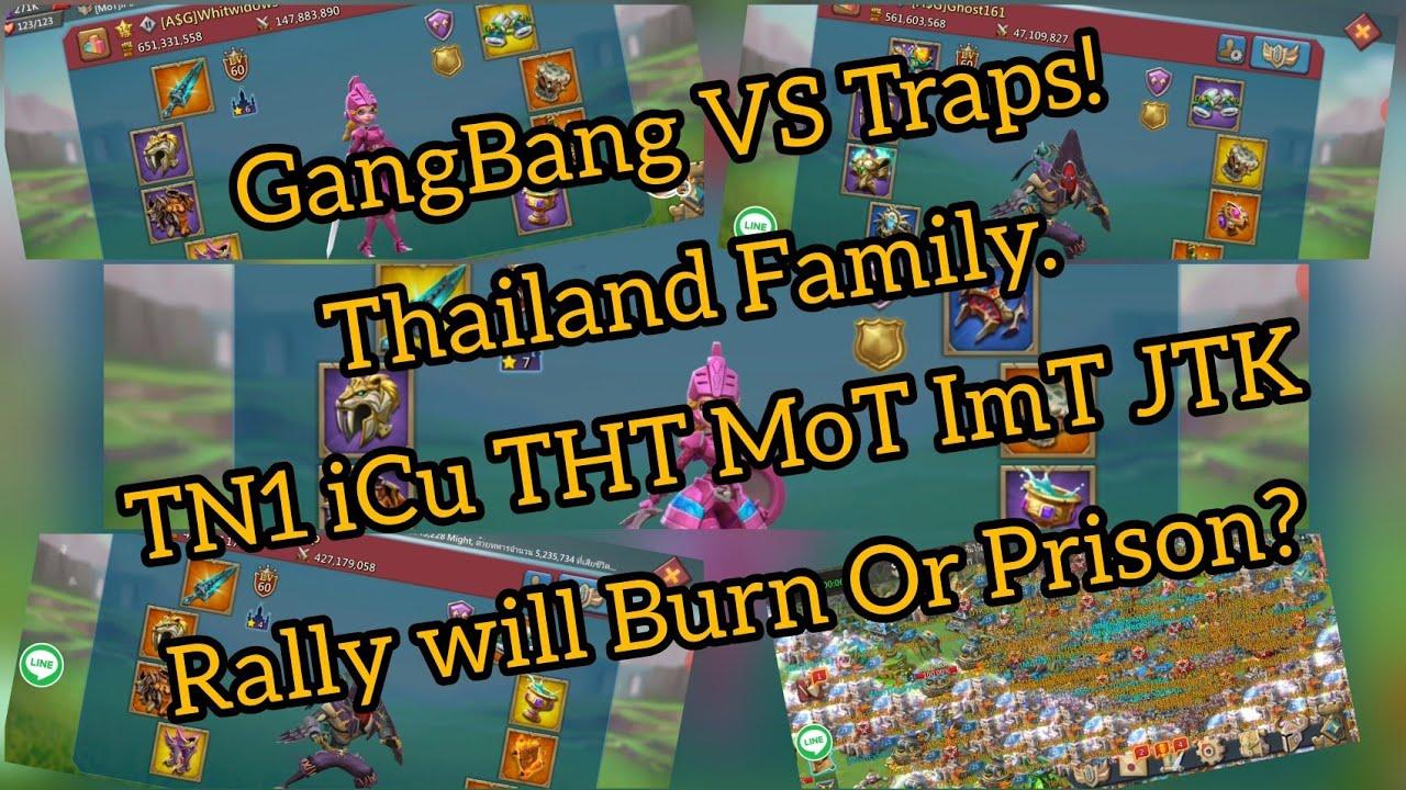 Gangbang traps Asian gangbang