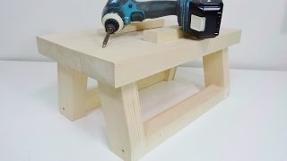 Workbench Build With Clamps Made  From One 2x4