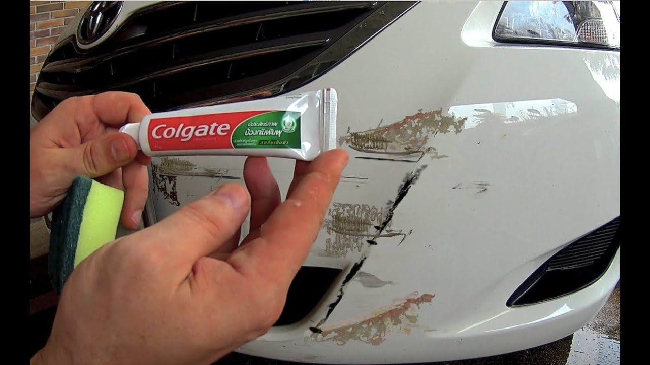 Remove Car Scratches With Toothpaste >> How to remove scratches from the car at home Using ...