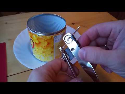 Как пользоваться открывалкой для консервов с крутилкой