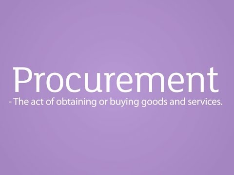 Procurement: Job Profile