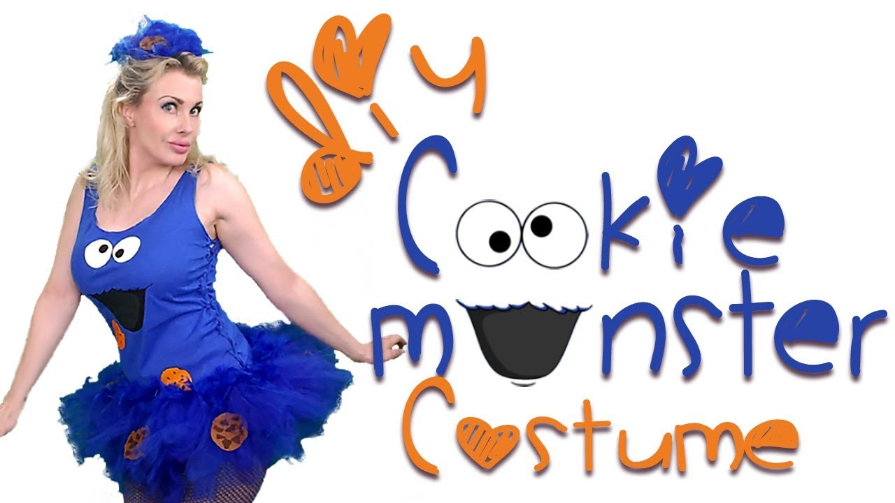 cookie monster | cute girly halloween costume | diy - youtube