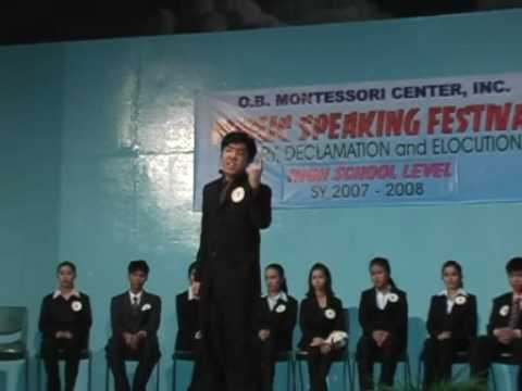 declamation and oration