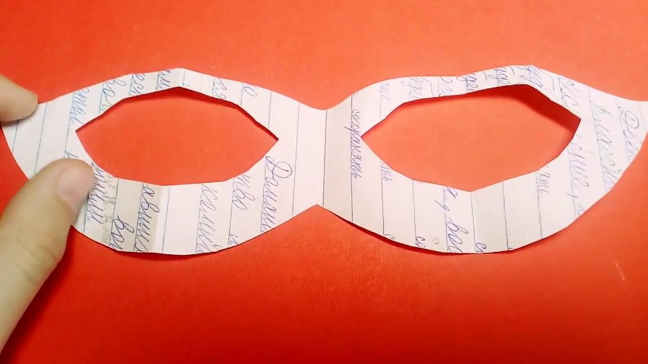 Как сделать маску леди баг и супер кот из бумаги 5
