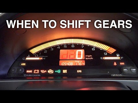 When To Shift Gears For The Fastest Acceleration