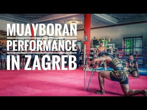 Muay Boran Demonstrations In Zagreb Muaythai Gym.