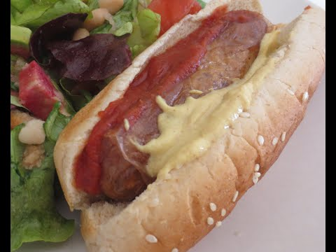 Low Fat Vegan No Oil Healthy Homemade Vegan Hot Dogs EASY!